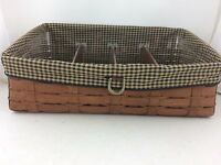 Longaberger 2008 Rich Brown Large Organizer Basket Combo w Dividers