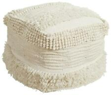 WOOL Stunning Pouf Pouffe Footstool Ottoman or use as Coffee Table 40x40x40cm