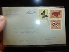 Mozambique 3 Butterfly stamps on 1954 A/M cover to USA (36bee)