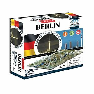4D Cityscape Jigsaw Puzzle - Berlin City Map With Time Layer