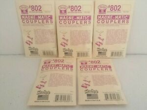 5 Packs Kadee S scale #802 standard gauge black plastic couplers Model Railroad