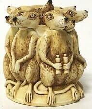 Retired Harmony Kingdom All Angles Meerkat Treasure Jests Box Figurine Nib