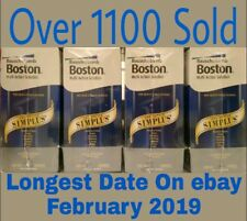 4 x 120ML Bausch & Lomb Boston Simplus Exp FEBRUARY/2019 Contact Lens Solution