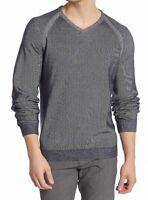Tailor Vintage Mens Sweater Washed Blue Medium M Raglan V-Neck Pullover $98- 382