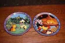 Garfield Plates Lot of 2 by Jim Davis, Danbury Mint