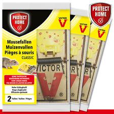Protect Home 3 x 2 Pièce Souricières Classique en Bois