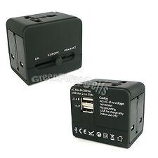 Universal Portable WorldWide Travel 2.1A USB Charger Adapter Plug USA EU AUS UK