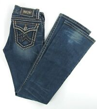 Miss Me  IRENE  Boot  Distressed Stretch women's jeans size 26 /  inseam 33