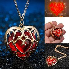 HALSKETTE HERZCONTAINER HERZTEIL ZELDA BREATH OF THE WILD HEARTPIECE ROT GOLD