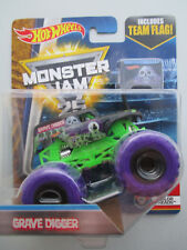 HOT WHEELS MONSTER JAM 25 YEARS 2017 COLOR TREADS *GRAVE DIGGER* /TEAM FLAG NEW!