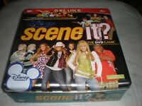 Scene It Deluxe Version Disney Channel DVD Game In Metal Tin 100% COMPLETE