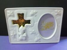 Precious Moments #107812 Cross Picture Frame baptism confirmation girl