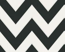 Metropolis Wallpaper by Michalsky ZigZag Black/White