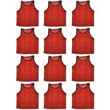 12 Jersey practice uniform pinnie pennie lacrosse field hockey ADULT RED