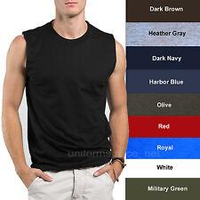 Mens T-Shirt TANK Cotton Sleeveless Muscle Tee Shirts Plain colors Size S - 3XL