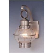 Onion Nautical Vaxcel Chatham Outdoor Wall Sconce Light Brushed Nickel OW21861BN