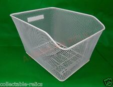 Wire Mesh Bicycle Basket Rear White Carrier Bike Rack Style Large Fittings 8835