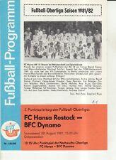OL 81/82  FC Hansa Rostock - BFC Dynamo Berlin