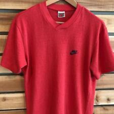 Rare VTG 80s Red Nike Gray Tag Mesh Athletic T Shirt Medium