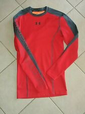 Under Amour Compression Cold Gear Long Sleeve mens medium NWOT red and gray
