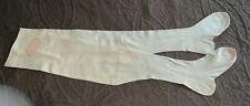 Edwardian Superior Lisle Thread Stockings Never Used Original Tag Sz 8 Off White