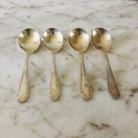 Set of 4 Vintage Antique REED & BARTON Silver Plate Tea Spoons