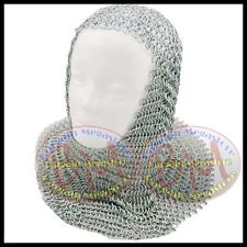 Butted Chain mail Coif Round Neck Chainmail Armour Chainmail hood Armour Costume