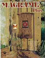 MACRAME PLUS PATTERNS WISHING WELL Pot Hanger TERRERIUM Indian Sunset POCKET