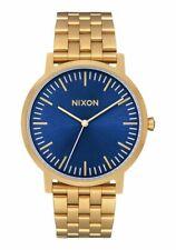 Nixon Men's Porter A10572735-00 40mm Blue Dial Stainless Steel Watch