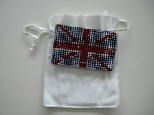 SALE SALE SALE BNIB SWAROVSKI UNION JACK LEATHER CARD WALLET FREE P&P RRP £120