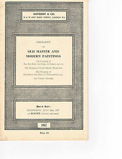 Sotheby's - Old Master & Modern Paintings - July 24 1957