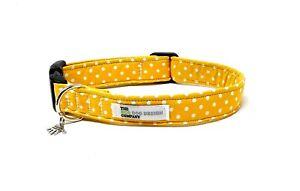 Yellow Polka Dot Adjustable Dog Collar