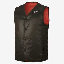 Nike Golf Chaleco Acolchado Cargo Caqui Max Naranja/Plana Plateado Pequeño