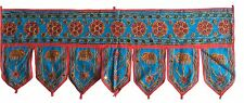 Sky Blue Indian embroidered toran door valances wall hanging Elephant Home Decor