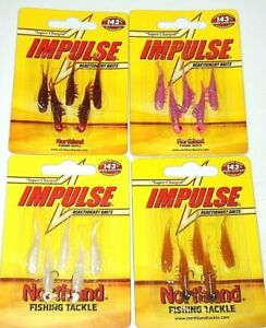 Northland Tackle Impulse Rigged Scud Bug Jigs (Lot of 4-Great Colors)
