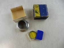 Ancienne lentille lens paresoleil 125/20 + filtre 133/22 G2, Voigtländer Vitessa