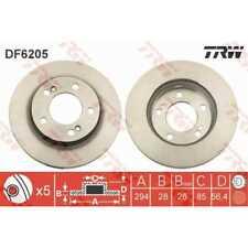 TRW 2x Bremsscheiben belüftet lackiert schwarz DF6205