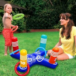 Inflatable Ring Toys Ring Toss Game Throw Pool Game Swimming Pool Floating Ring