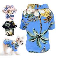 Sommer Hund Katze Shirt Haustier Kleidung Kostüm Hawaiian Weste Strand T-Shirt