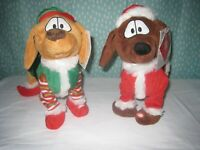 Christmas Animated Dancing Dogs by hug and luv, Lot of 2