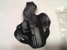 Desantis Pancake Holster 3 slots Glock 37 Right Hand. Black Leather