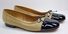 Enzo Angiolini Shoes Ballet Flat 2 Tone Leather Women's Size 9 Narrow So Comfy!