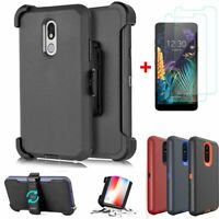 For  LG K30 2019/Aristo 4+/Prime 2 Case Belt Clip Fit Otterbox+Screen Protector
