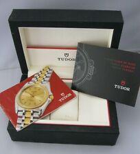 Genuine ROLEX TUDOR Mans Watch Box & Booklets, Good Condition, Ref 44092.64