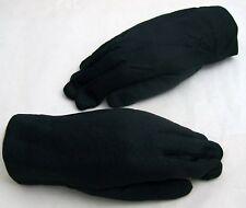 1 Paire Gants Tissu Noir. Doublé.
