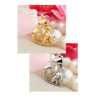 Stainless Steel Puppy Dog Heart Ash Urn Pendant Memorial Cremation Jewelry