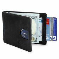Blocage RFID Portefeuille Minimaliste pour Homme avec Porte Carte Crédit