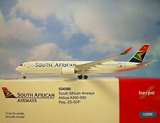 Herpa Ali 1:500 Airbus A350-900 Sud Africano Zssdf 534390 Modellairport500