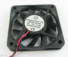 5pcs Brushless DC Cooling Fan 60x60x10mm 6010 11 blades 12V 0.18A 2pin Connector