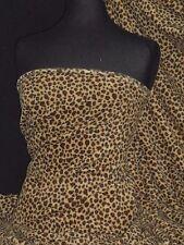 Polar Fleece Anti Pill Washable Soft Fabric-Mini Cheetah Camel/Brown PPFL47 CMLB